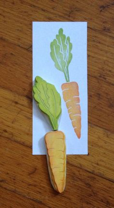 Hand Carved Carrot Stamp by EnchantingStamps on Etsy https://www.etsy.com/listing/55100401/hand-carved-carrot-stamp