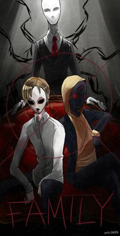Family by Alloween on DeviantArt Best Creepypasta, Creepypasta Proxy, Hoodie Creepypasta, Creepypasta Wallpaper, Spooky World, Creepy Pasta Family, Creeped Out, Jeff The Killer, Spooky Scary