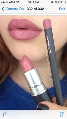 Mac Soar lip liner & Mac Brave lipstick. Love this! #mac #lipstick #makeup