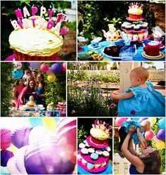 Alice's mad tea party. A really nice and colorfull birthday party theme.