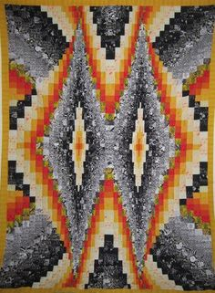Looking for quilting project inspiration? Check out Bargello Quilt Top 55