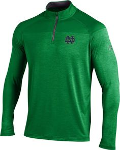 e8e87e53260 Under Armour Men s Notre Dame Fighting Irish Green UA Tech Tonal Twist  Quarter-Zip Shirt