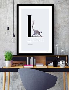 Discover «L for Lemur», Exclusive Edition Fine Art Print by Diana Hlevnjak - From $25 - Curioos