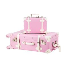 Preenex Premium PU Vintage Style Suitcase Set Luggage Bag w/ TSA Locks Wheels from brand. Cute Luggage, Hand Luggage, Luggage Sets, Vintage Luggage, Pink Suitcase, Luggage Suitcase, Cute Suitcases, Trolley Case, Kawaii