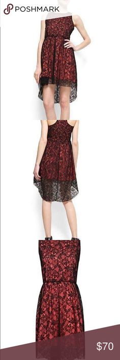 MNG Beautiful Red Black Lace Evening Gown Dress Mango, Dress, Gown, Evening Dress, Lace Mango Dresses Mini