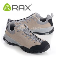 aaa0470cc1d 2017 RAX genuine leather lightweight hiking shoes men wear-resistant non- slip EVA outdoor