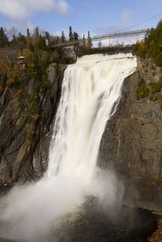 Montmorency Falls (Canada), near old Quebec City.  8th grade class field trip!