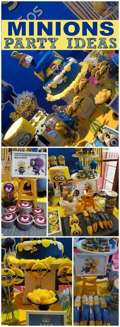 How fun is this Despicable Me Minion birthday party! See more party ideas at CatchMyParty.com!