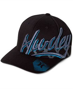 Hurley Hat, Solid Script Flexfit Hat - Mens Hats & Accessories - Macy's