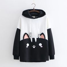 Cute Cat Harajuku Cotton Pullover Hoodies sold by KoKo Fashion. Shop more products from KoKo Fashion on Storenvy, the home of independent small businesses all over the world. Kawaii Fashion, Cute Fashion, Teen Fashion, Fashion Outfits, Lolita Fashion, Harajuku Fashion, Fashion Styles, Korean Fashion, Fashion Beauty