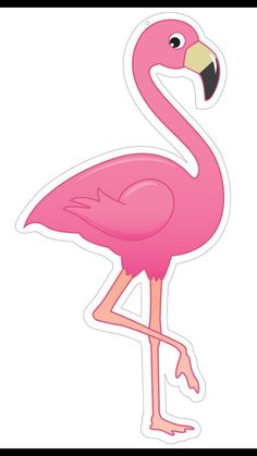 Best 11 'Pink Flamingo' Sticker by Jodie Andrews Flamingo Party, Flamingo Craft, Flamingo Decor, Flamingo Birthday, Diy Birthday, Pink Flamingos, Birthday Parties, Tropical Party, Ideas Para Fiestas