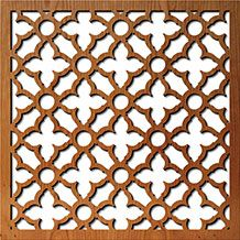 Swift Grille - laser cut wood panel (or mdf) company...lots of pattern options, but not sure about price range...