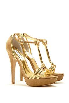 Marco Santini Gold Heels