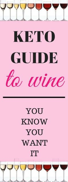 A Keto Wine Guide - Keto Diet for Health & Weight Loss Wondering if you can have wine on keto? Are some wines better than others? What about ketosis? Check out this keto wine guide for all things keto and wine! Ketogenic Diet Starting, Ketogenic Diet Plan, Ketogenic Diet For Beginners, Keto Diet For Beginners, Ketogenic Cookbook, Macros, Keto Wine, Keto Diet List, Paleo Diet