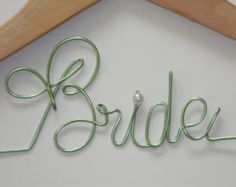 making wire name hangers - Google Search
