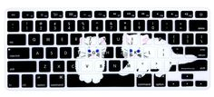 """Amazon.com: HRH Silicone Keyboard Cover Keyboard Skin Protector for All MacBook Air 13"""", MacBook Pro with Retina Display 13""""15"""" 17"""" Macbook 13"""" Unibody(Bear): Computers & Accessories"""