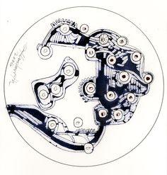 Ignacio Klindworth. #Mixtura para engranajes. Obra sobre papel y técnica mixta 30x30. Madrid 2006. www.ignacioklindworth.es