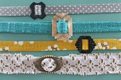 Create a colorful spring belt with a little fabric and a vintage buckle. The Renegade Seamstress