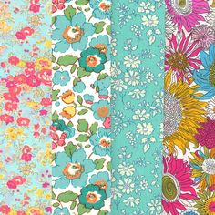 Lovely Selection of 4 Fat Quarters from Liberty of London 288 - Alice Caroline - Liberty fabric, patterns, kits and more - Liberty of London fabric online