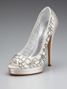 Embellished Peep-Toe Pump by Casadei at Gilt    The ones from the commercial! Love them!