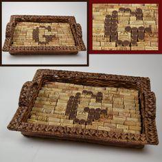 Monogram Wine Cork Tray