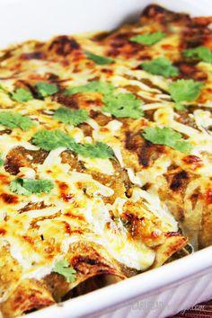 Salsa-Verde-Honey-Lime-Pepper-Jack-Chicken-Enchiladas