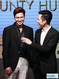"nice Lee min ho for "" Bounty Hunters "" press conference ..!!!"