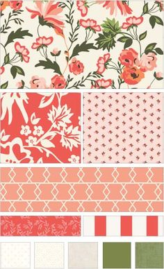 Apricot & Persimmon fabric line by Carina Gardner for Riley Blake Designs—Subscribe to our newsletter at http://www.rileyblakedesigns.com/newsletter/