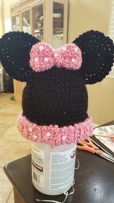 Childs mini mouse hat