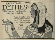 Vintage Advert for Egyptian Deities Cigarettes - Nov 1919 by CharmaineZoe, via Flickr