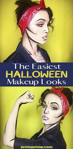 Check out these halloween makeup ideas for easy, last minute costumes that can be created with the makeup and clothes you already own! This list has looks that range from creepy to scary to cute!