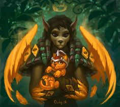 Worgen with the Cinder Kitten by lowly-owly on DeviantArt