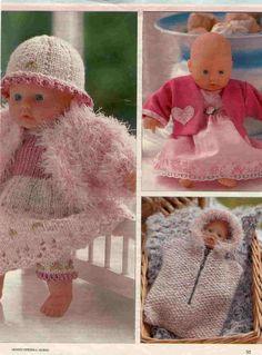 Albumarkiv Baby Doll Clothes, Baby Dolls, Baby Born, Crochet Hats, Teddy Bear, Album, Knitting, Fabric, Animals