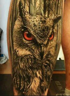 The detail is amazing Lion Head Tattoos, Bear Tattoos, Wolf Tattoos, Animal Tattoos, Body Art Tattoos, Tattoo Ink, Fish Tattoos, Owl Tattoo Design, Tattoo Sleeve Designs