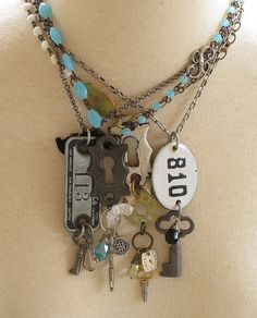 Mystic Pieces by Mystic Pieces would be easy to make. Check out the jewelry aisle at Michaels