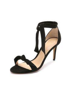 suede tie sandals