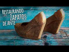 Restaurando Zapatos de Ante o Gamuza :: Chuladas Creativas - YouTube