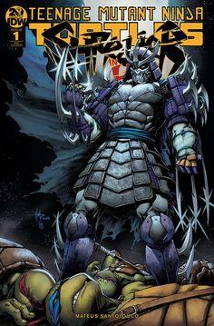 Teenage Mutant Ninja Turtles: Shredder In Hell (Issue) Shredder Tmnt, Ninja Turtles Shredder, Comic Book Covers, Comic Books Art, Comic Art, Ninja Turtles Art, Teenage Mutant Ninja Turtles, Minions, Arte Dc Comics