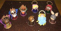 Belén cápsulas NESPRESSO Christmas Carol, Christmas Time, Christmas Crafts, Christmas Decorations, Xmas, Christmas Ornaments, Holiday Decor, Nespresso, Upcycled Crafts