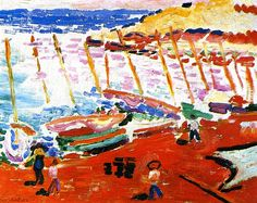 Henri Matisse, The Red Beach (also known as The Red Beach, Collioure)  on ArtStack #henri-matisse #art
