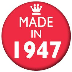 Made in 1947, 40's #birthday #badges, handbag #mirror, fridge magnet, bottle open, View more on the LINK: http://www.zeppy.io/product/gb/2/201615973053/