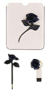 iPad 2 Prada Saffiano cuero, Saffiano pluma rosa, y tarjeta de memoria.