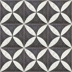 Spaces™ Bruges Outdoor Petal Black Tile