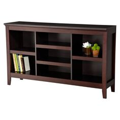 Carson Horizontal Bookshelf from Target! Bought this two years ago for my records and record player, and it has held up really well. Still love it! #affiliate