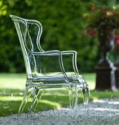 Pasha by Pedrali: transparent wing back chair #ThingsMatter