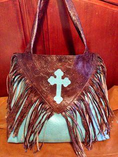 Fringe western cross diaper bag by ashtensmeenk on Etsy, $55.00