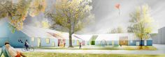 Courtesy of Rudanko+Kankkunen   The design proposal for the Aurinkokivi School competition in Vantaa, Finland by Rudanko + Kankkunen was recently awarded a purchase prize for its inspiring architecture and child-friendly spaces