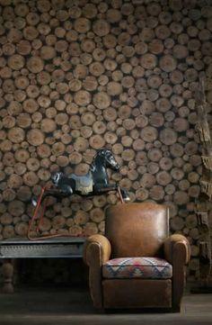 Wood Paneled Wallpaper.