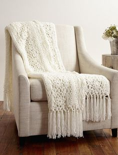 Lady Windsor Lace Crochet Blanket | AllFreeCrochetAfghanPatterns.com