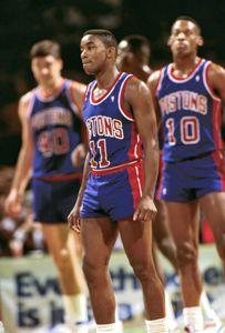 Isiah Thomas and the Detroit Bad Boys Copyright © Lipofsky Basketballphoto.com